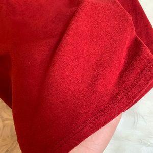 AKIRA Skirts - AKIRA red faux suede midi skirt